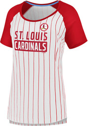 St Louis Cardinals Womens Iconic T-Shirt - White