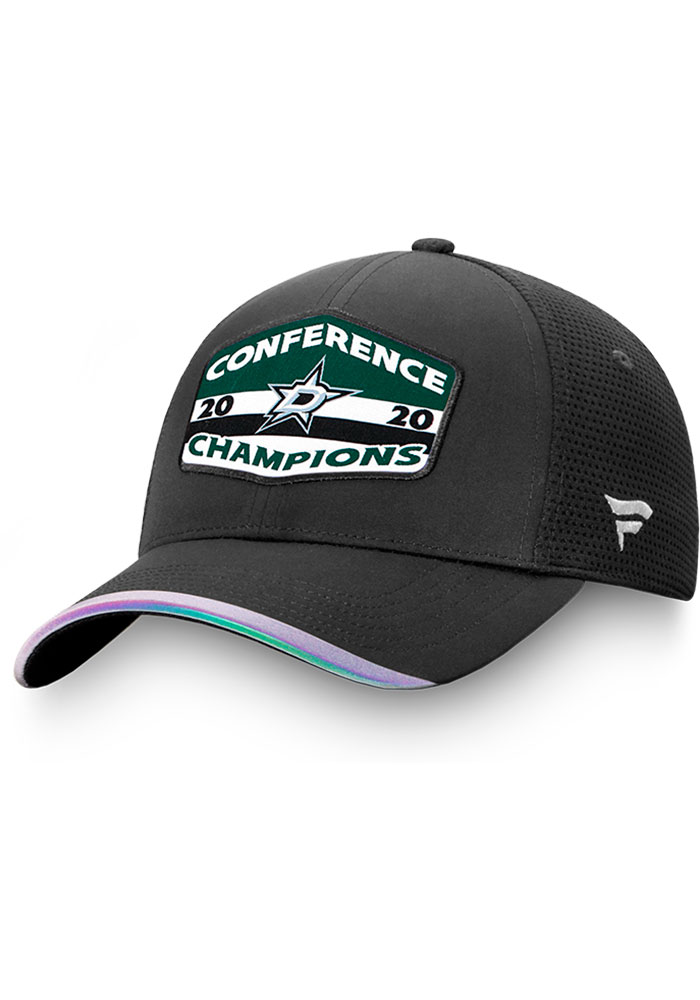 Dallas Stars 2020 NHL Conference Champs Locker Room Adjustable Hat - Black
