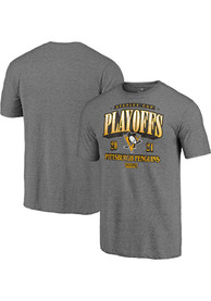 Pittsburgh Penguins Ring The Alarm Fashion T Shirt - Charcoal