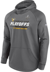 Pittsburgh Penguins Playoff Participant Speed Hood - Grey