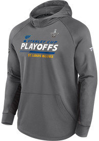St Louis Blues Playoff Participant Speed Hood - Grey