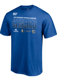 Dallas Mavericks Division Champion Locker Room T Shirt - Blue
