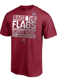 Tampa Bay Buccaneers Super Bowl LV Champions Parade Celebration T Shirt - Red