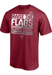 Tampa Bay Buccaneers Red Super Bowl LV Champions Parade Celebration Short Sleeve T Shirt