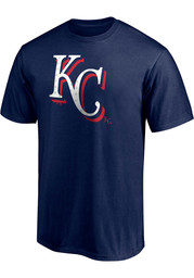 Kansas City Royals Red White And Team T Shirt - Navy Blue
