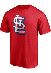 St Louis Cardinals Red White And Team T Shirt - Red