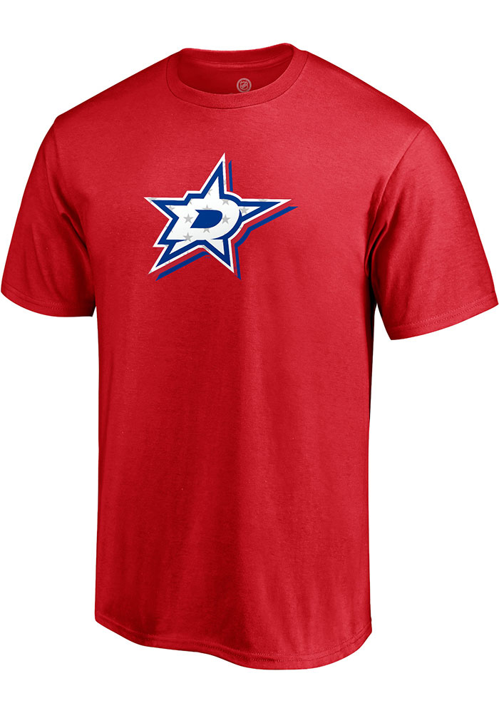 Dallas Stars Red Red White And Team Short Sleeve T Shirt - Image 1