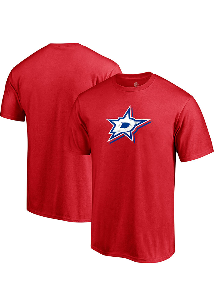 Dallas Stars Red Red White And Team Short Sleeve T Shirt - Image 3