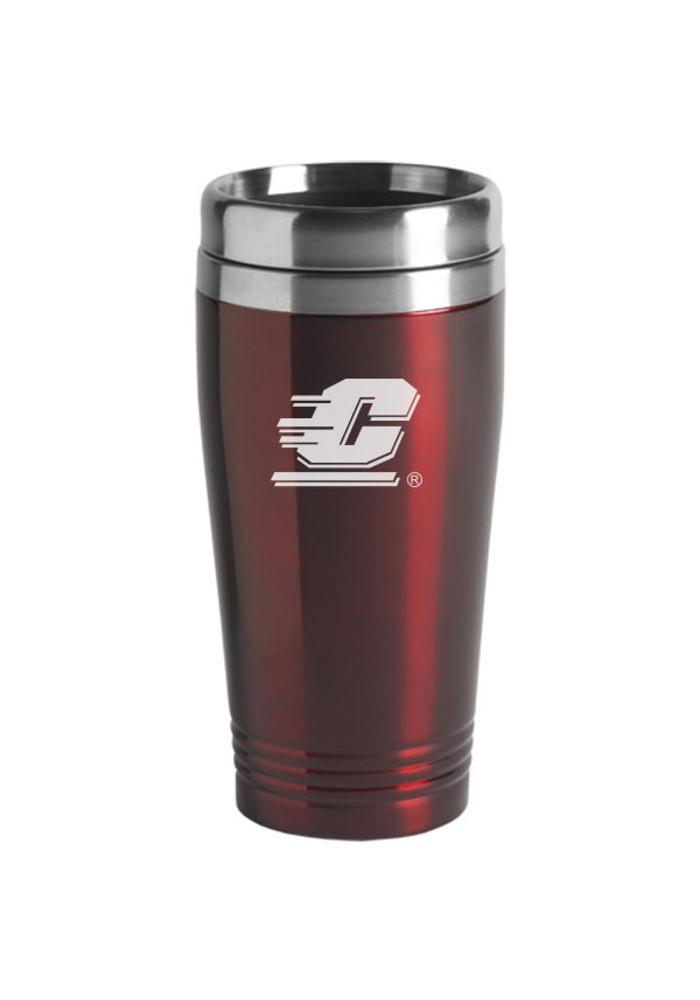 Central Michigan Chippewas 16oz Stainless Steel Travel Mug - Image 1