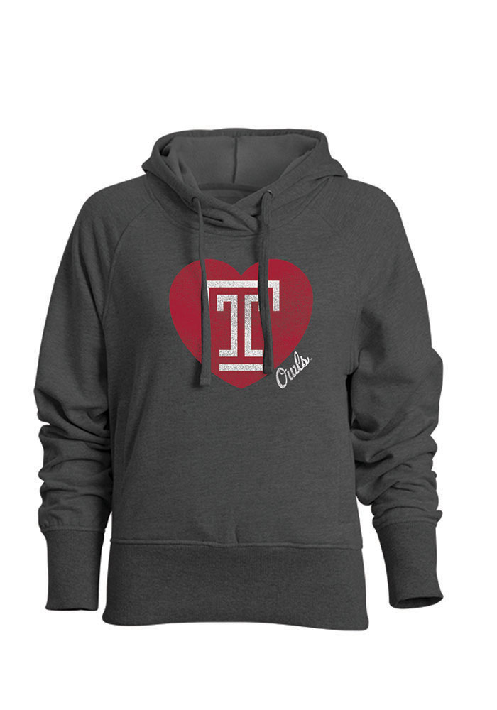 Temple Owls Womens Grey Heavenly Hood Hooded Sweatshirt - Image 1