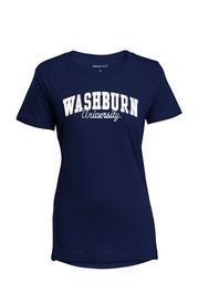 Washburn Womens Navy Blue Bestie T-Shirt