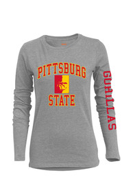 Pitt State Gorillas Womens BFF Grey T-Shirt