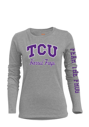 Horned Frogs Womens Grey T-Shirt