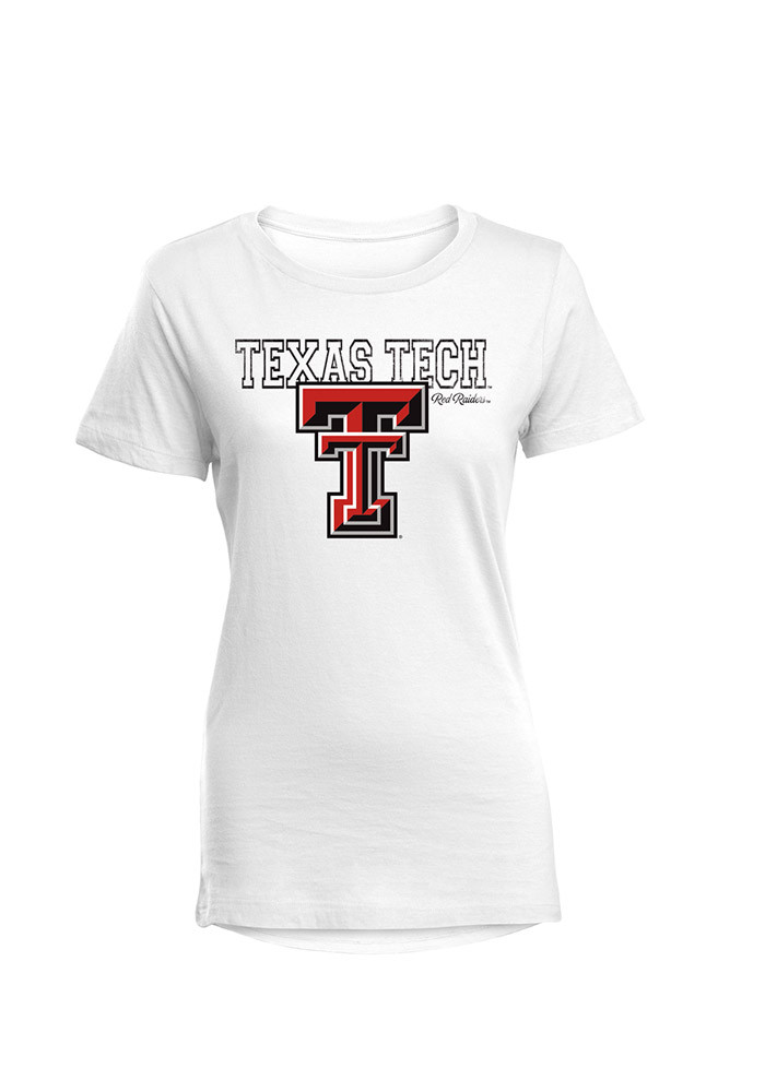 Texas Tech Red Raiders Womens White Bestie Short Sleeve T-Shirt - Image 1