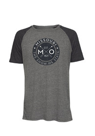 Missouri Dark Charcoal Circle Graphic Short Sleeve T Shirt
