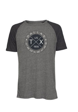 D-Town charcoal Mens Coordinates Fashion Tee