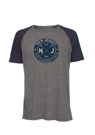 New Jersey Charcoal Circle Short Sleeve T Shirt