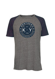 Kentucky Dark Charcoal Circle Short Sleeve T Shirt