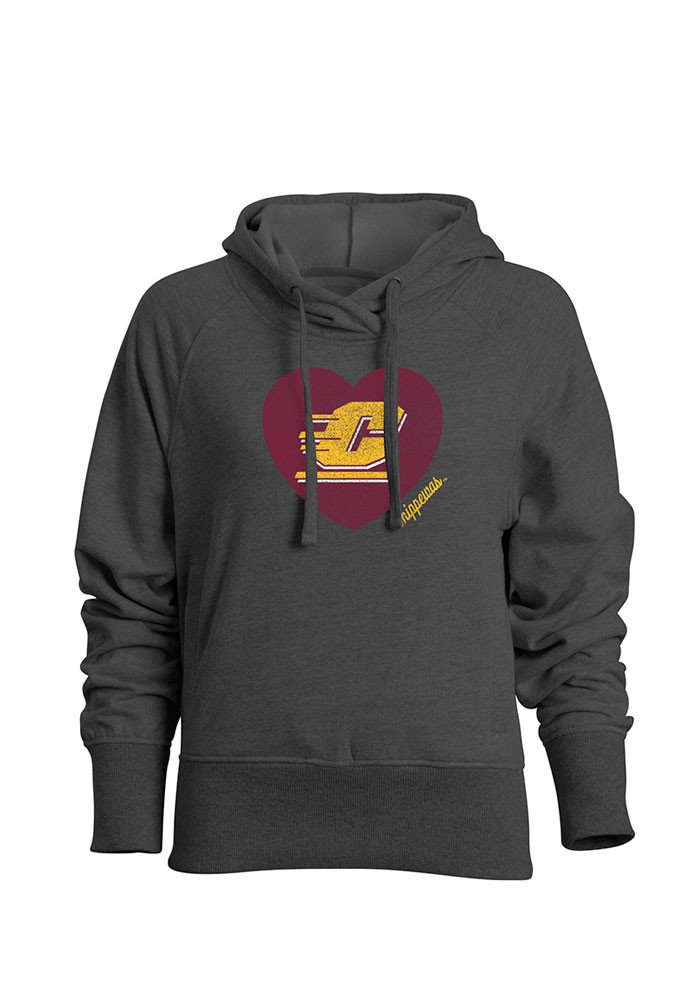 Central Michigan Chippewas Juniors Grey Heavenly Hooded Sweatshirt - Image 1