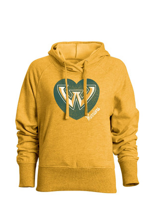 Wayne State Warriors Womens Gold Heavenly Hoodie