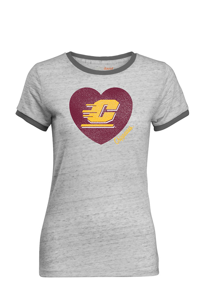 Central Michigan Chippewas Juniors Grey Bestie Short Sleeve Crew T-Shirt - Image 1