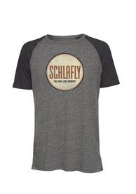 Schlafly St Louis Charcoal Circle Logo Short Sleeve T Shirt