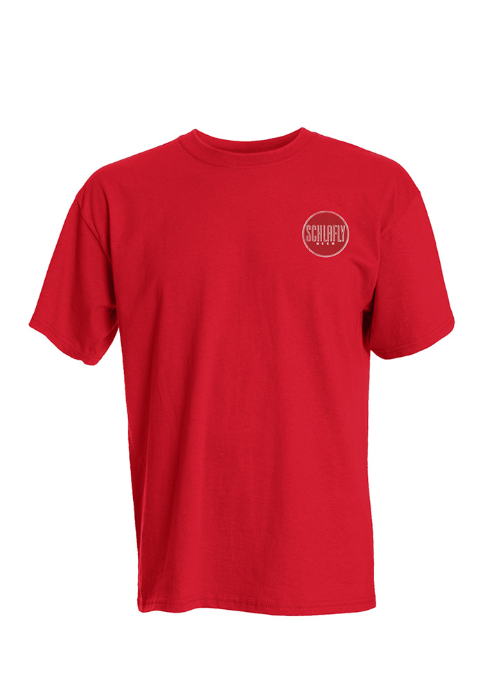 Schlafly St Louis Red Circle Logo Short Sleeve T Shirt - Image 1