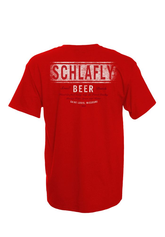 Schlafly St Louis Red Circle Logo Short Sleeve T Shirt - Image 2