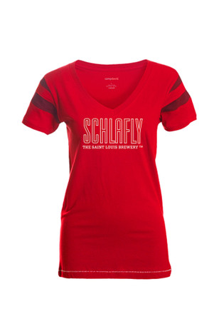 Womens Red Kailey V-Neck