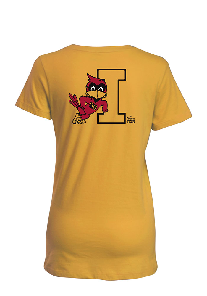 Iowa State Cyclones Womens Gold Bestie Short Sleeve T-Shirt - Image 2