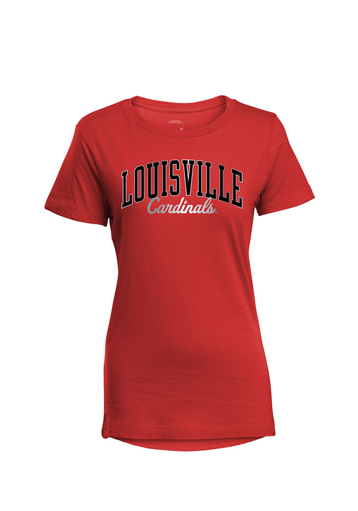 Louisville Cardinals Womens Red Bestie Short Sleeve T-Shirt - Image 1
