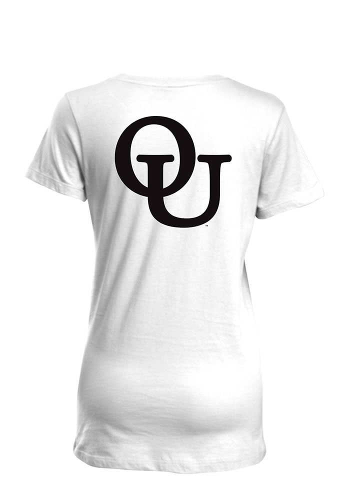 Oakland University Golden Grizzlies Womens White Bestie Short Sleeve T-Shirt - Image 2