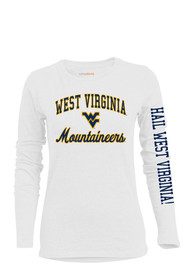 West Virginia Mountaineers Womens BFF White T-Shirt