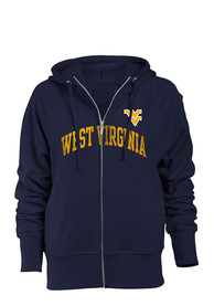 West Virginia Mountaineers Juniors Navy Blue Starlet Full Zip Jacket