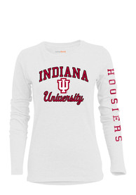 Indiana Hoosiers Womens BFF White T-Shirt