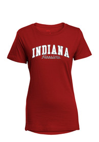 Indiana Hoosiers Womens Red Bestie T-Shirt