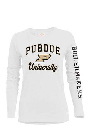 Purdue Boilermakers Womens BFF White T-Shirt