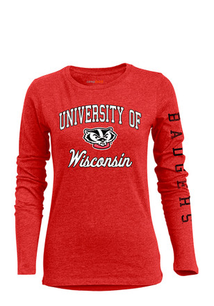Wisconsin Badgers Womens BFF Red T-Shirt