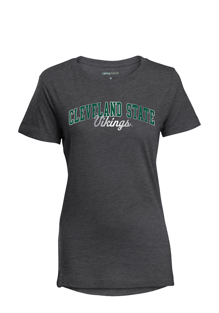 Cleveland State Vikings Womens Grey Bestie Short Sleeve T-Shirt - Image 1