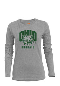 Ohio Bobcats Womens BFF Grey T-Shirt