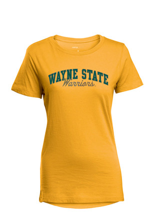 Wayne State Warriors Womens Gold Bestie T-Shirt