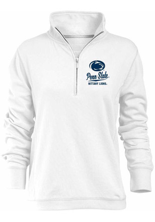 Penn State Nittany Lions Womens Hampton White 1/4 Zip Pullover