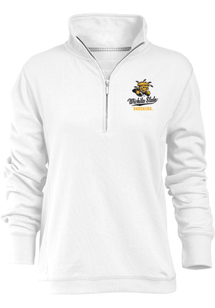 Wichita State Shockers Womens Hampton White 1/4 Zip Pullover