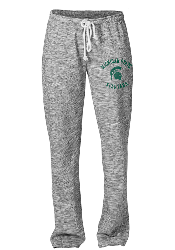 Michigan State Spartans Womens Happy Grey Sweatpants - Image 1
