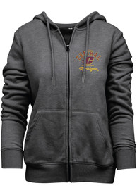 Central Michigan Chippewas Womens Funday Full Zip Jacket - Grey