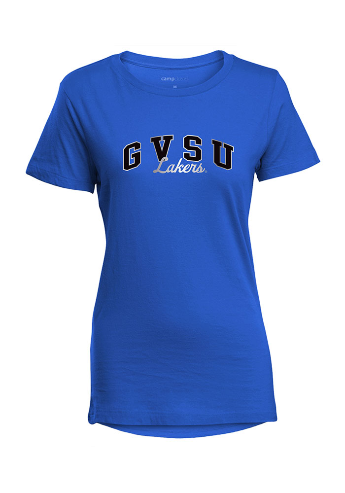 Grand Valley State Lakers Womens Blue Bestie Short Sleeve T-Shirt - Image 1