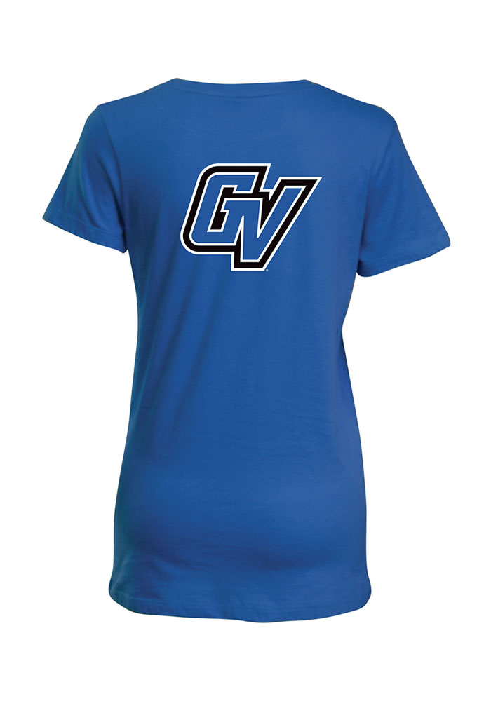 Grand Valley State Lakers Womens Blue Bestie Short Sleeve T-Shirt - Image 2