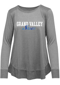 Grand Valley State Lakers Womens Rampage Scoop Neck T-Shirt - Grey