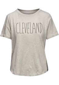 Cleveland Womens Oatmeal Saltee Short Sleeve T Shirt