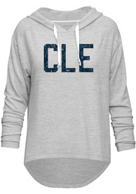 Cleveland Womens Grey CLE Long Sleeve Light Weight Hood